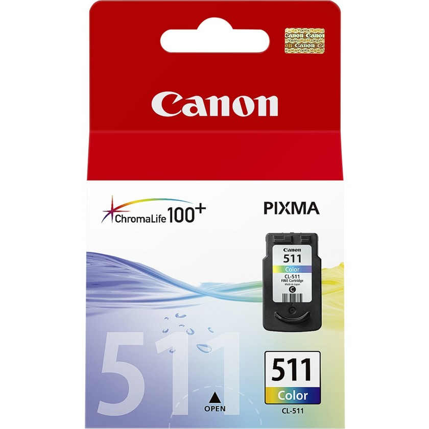 Náplne a tonery - originálné Cartridge Canon CL-511, farebná, Tri-color