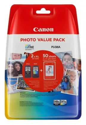 Náplne a tonery - originálné Cartridge Canon PG-540XL / CL-541XL + 50x GP-501