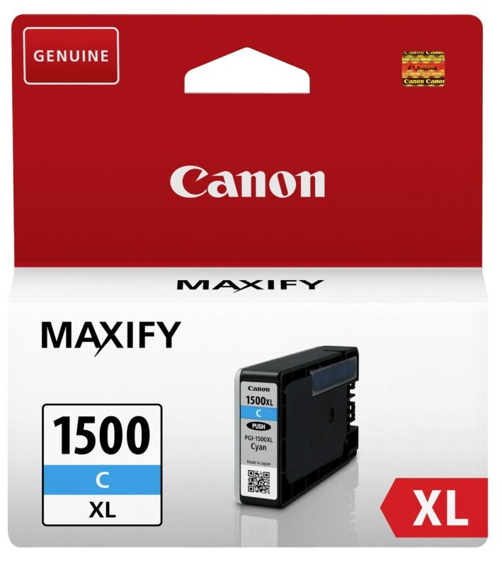 Náplne a tonery - originálné Cartridge Canon PGI-1500XL C, 9193B001, azúrová