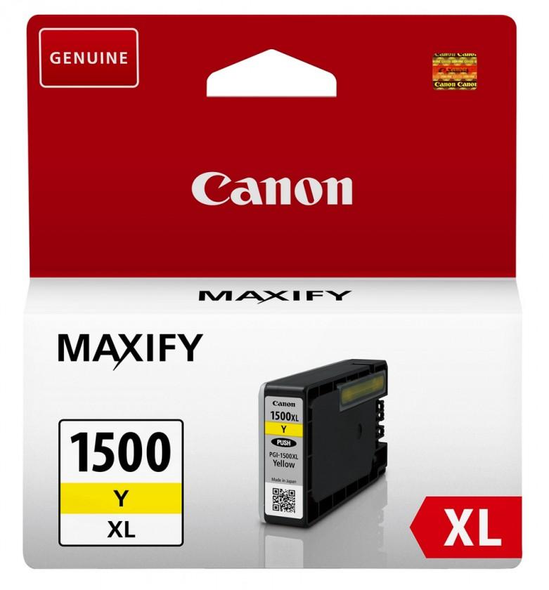 Náplne a tonery - originálné Cartridge Canon PGI-1500XL Y, 9195B001, žltá