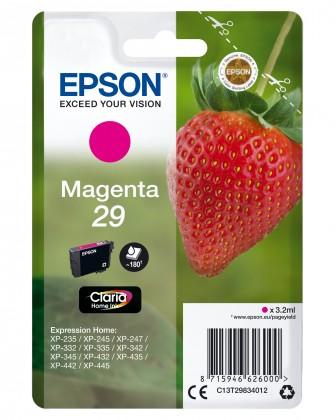 Náplne a tonery - originálne Cartridge Epson C13T29834010, Claria Home T2983, purpurová