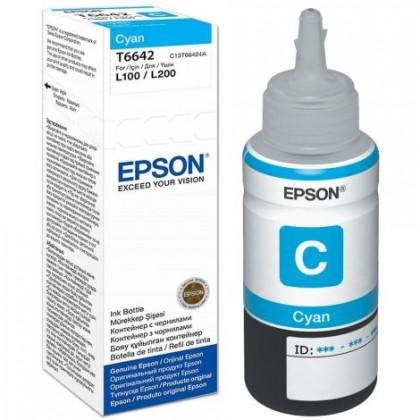 Náplne a tonery - originálné Cartridge Epson T6642, azúrová