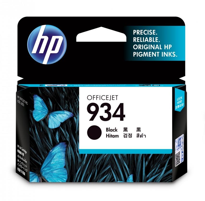Náplne a tonery - originálné Cartridge HP C2P19AE, 934, čierna