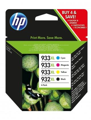 Náplne a tonery - originálné Cartridge HP C2P42AE, čierna/933XL, 932XL, štvorbalenie,CMYK
