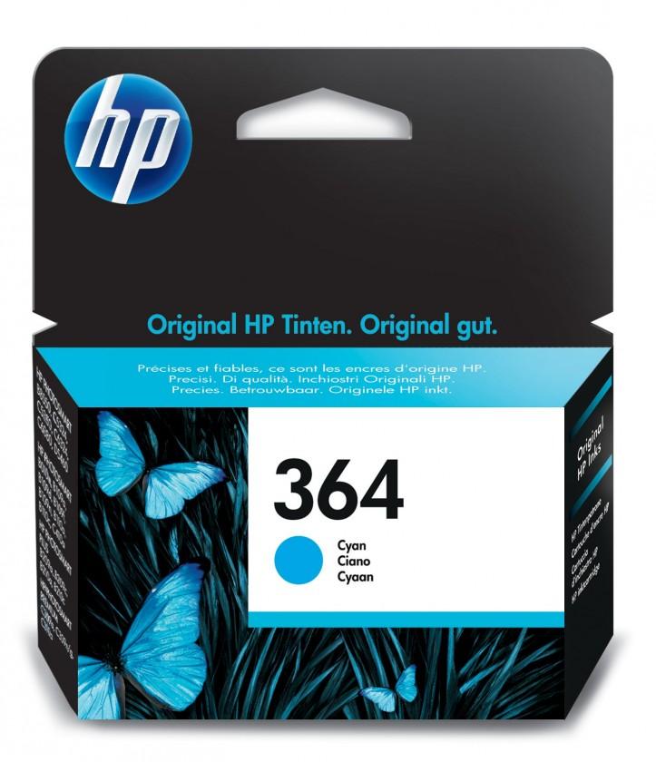 Náplne a tonery - originálne Cartridge HP CB318EE, 364, azúrová