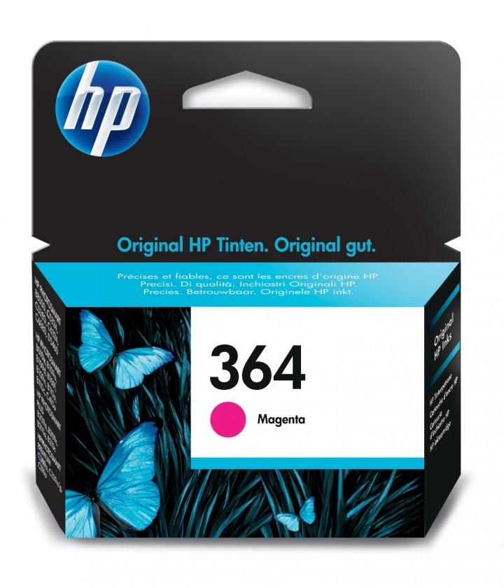 Náplne a tonery - originálné Cartridge HP CB319EE, 364, purpurová