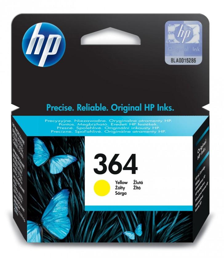 Náplne a tonery - originálné Cartridge HP CB320EE, 364, žltá