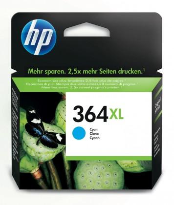 Náplne a tonery - originálné Cartridge HP CB323EE, 364XL, azúrová