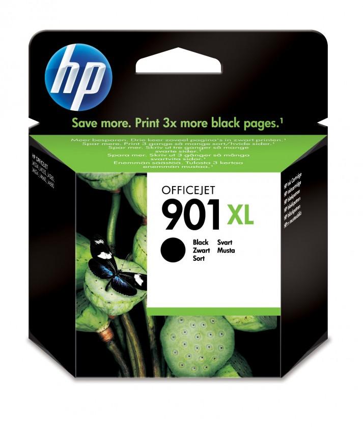 Náplne a tonery - originálné Cartridge HP CC654AE, 901XL, čierna