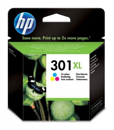 Náplne a tonery - originálné Cartridge HP CH564EE, 301XL, Tri-color