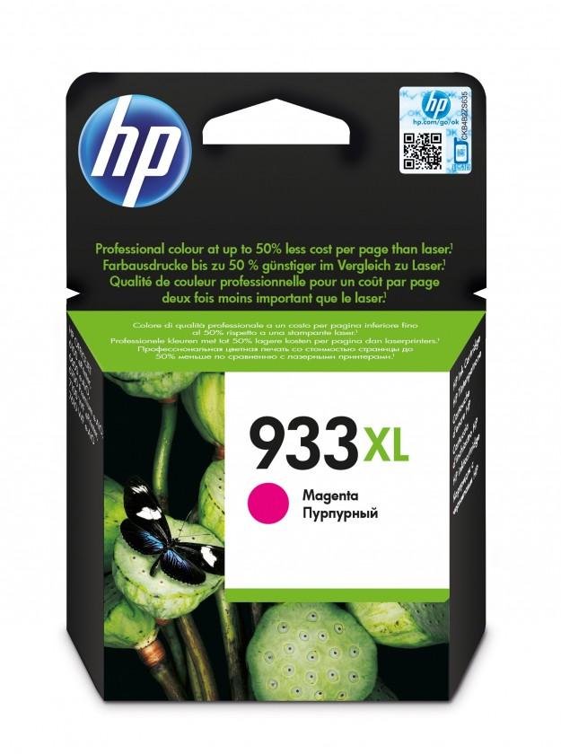Náplne a tonery - originálné Cartridge HP CN055AE, 933XL, purpurová
