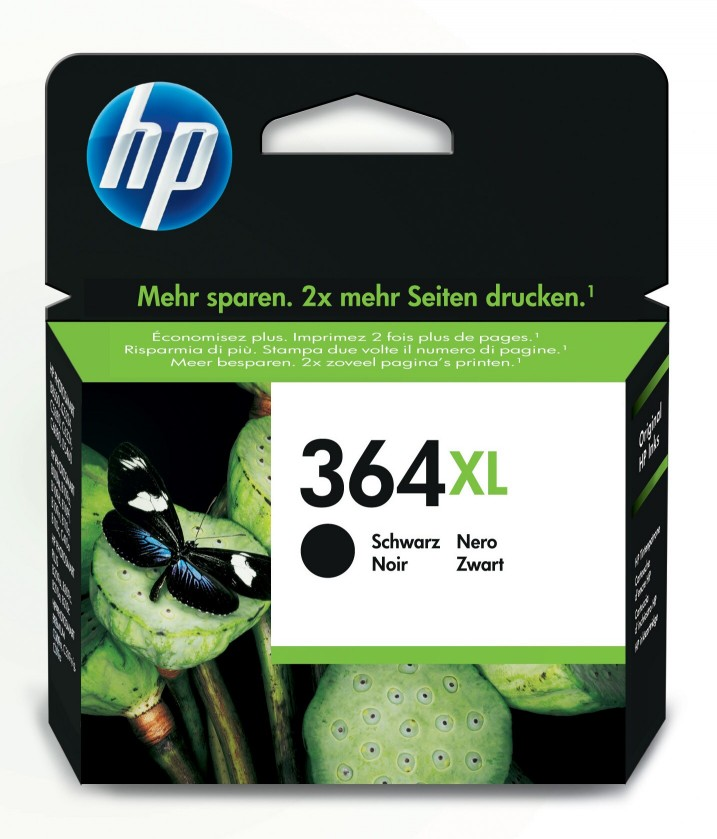 Náplne a tonery - originálné Cartridge HP CN684EE, 364XL, čierna