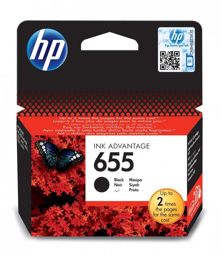 Náplne a tonery - originálne Cartridge HP CZ109AE, 655, čierna