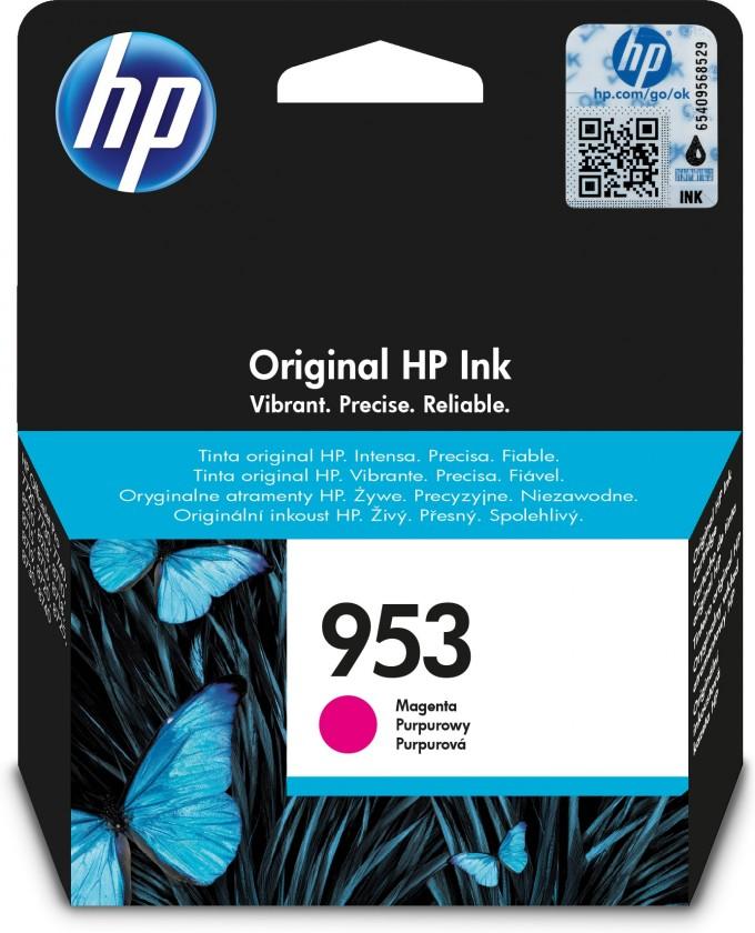 Náplne a tonery - originálné Cartridge HP F6U13AE, 953, purpurová