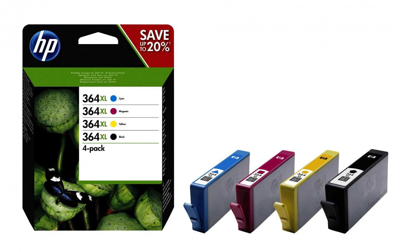 Náplne a tonery - originálne Cartridge HP N9J74AE, 364XL, štvorbalenie, CMYK