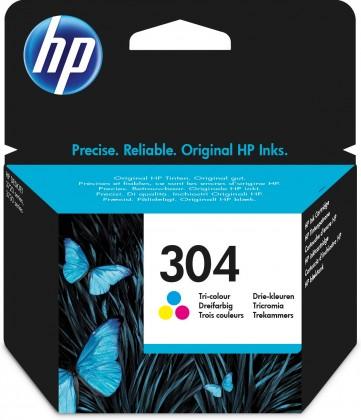 Náplne a tonery - originálne Cartridge HP N9K05AE, 304, Tri-color