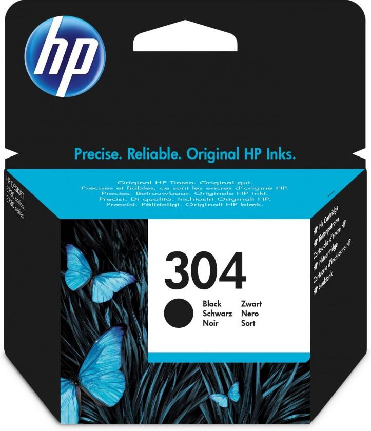 Náplne a tonery - originálné Cartridge HP N9K06AE, 304, čierna