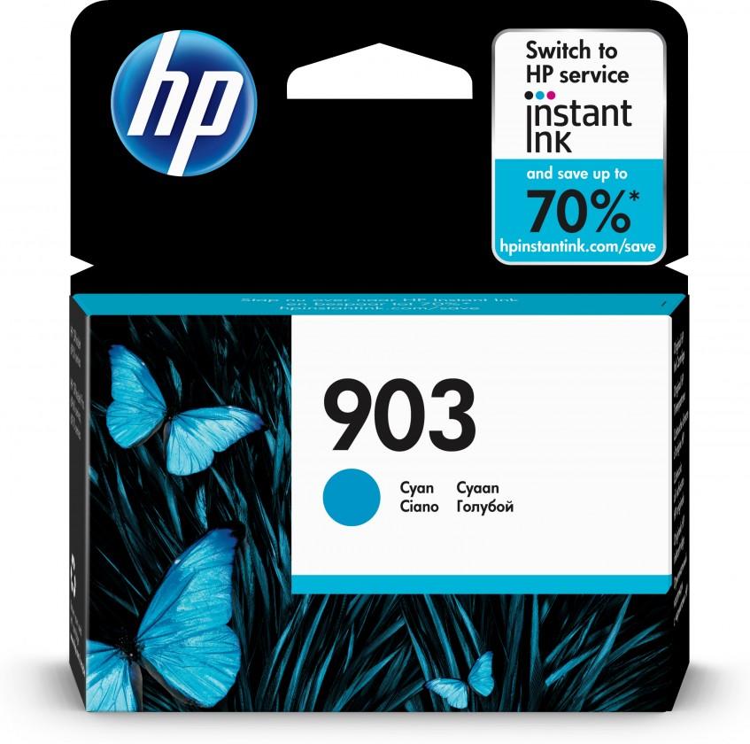 Náplne a tonery - originálne Cartridge HP T6L87AE, 903, azúrová