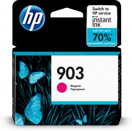 Náplne a tonery - originálne Cartridge HP T6L91AE, 903, purpurová