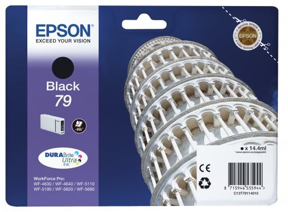 Náplne a tonery - originálné Epson originál ink C13T79114010, 79, L, black, 14ml