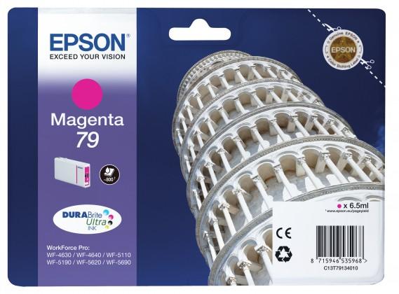 Náplne a tonery - originálné Epson originální ink C13T79134010, 79, L, magenta, 7ml