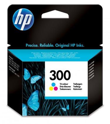 Náplne a tonery - originálné HP 300, trojfarebná (CC643EE) - originálna