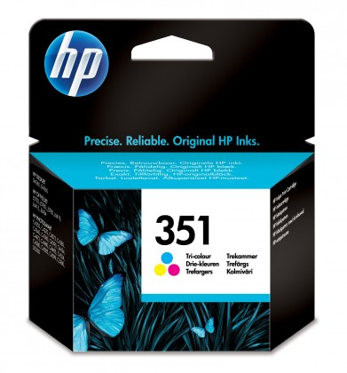 Náplne a tonery - originálné  HP 351 - 3barevná inkoustová kazeta, CB337EE