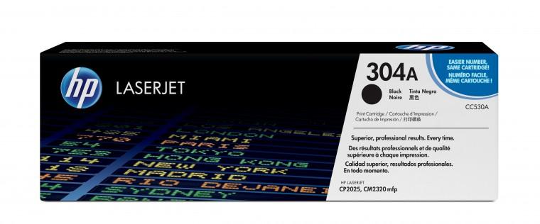 Náplne a tonery - originálné HP tlačová kazeta CC530A, čierna