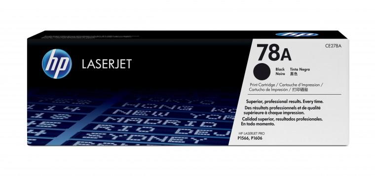 Náplne a tonery - originálné HP tlačová kazeta CE278A, čierna