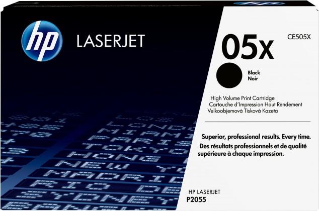 Náplne a tonery - originálné HP tlačová kazeta CE505X veľká, čierna