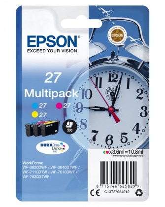 Náplne a tonery - originálné Originálne atramentové farby Epson Multipack 27 3-farebná