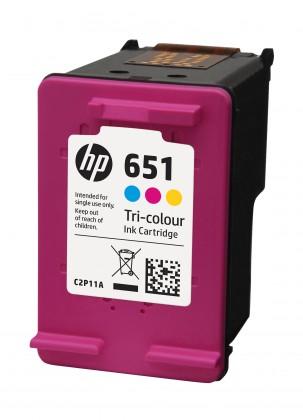 Náplne a tonery - originálné Originálne cartridge HP C2P11AE č. 651 Tri-color