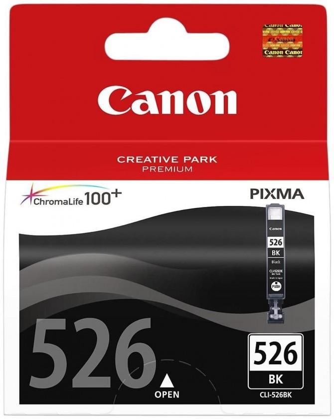 Náplne a tonery - originálné Originálne čierna cartridge Canon CLI-526 Bk,