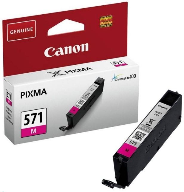 Náplne a tonery - originálné Originálne fialová cartridge Canon CLI-571M