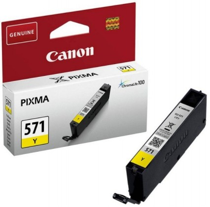 Náplne a tonery - originálné Originálne žltá cartridge Canon CLI-571Y