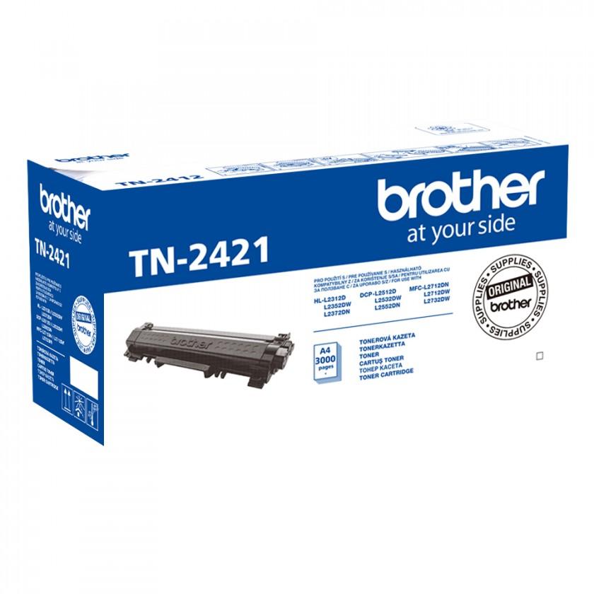 Náplne a tonery - originálné Toner Brother TN-2421, čierna