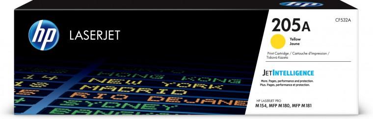 Náplne a tonery - originálné Toner HP CF532A, 205A, žltá