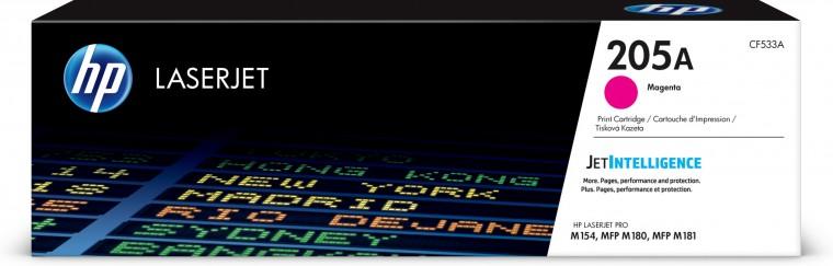 Náplne a tonery - originálné Toner HP CF533A, 205A, purpurová