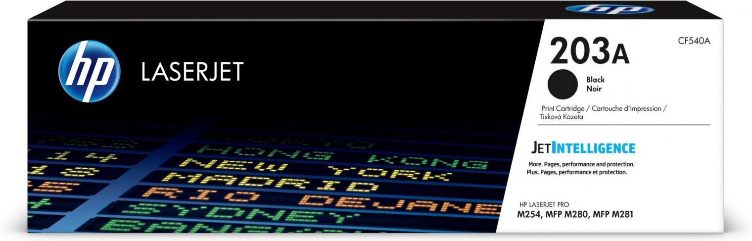 Náplne a tonery - originálné Toner HP CF540A, 203A, čierna