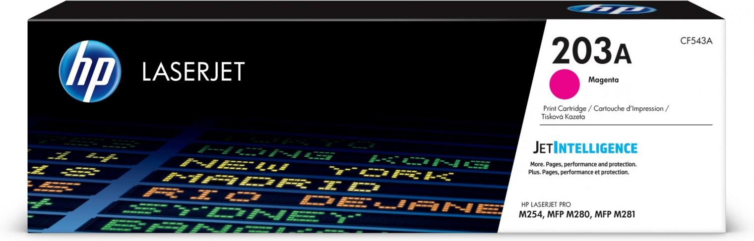 Náplne a tonery - originálné Toner HP CF543A, 203A, purpurová