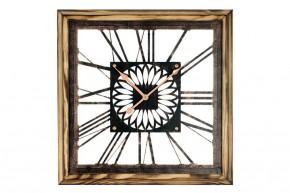 Nástenné hodiny - H05, dřevo, kov