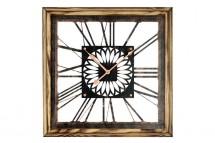 Nástenné hodiny - H05, drevo, kov