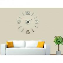 Nástenné hodiny - H22, 50 cm, strieborná