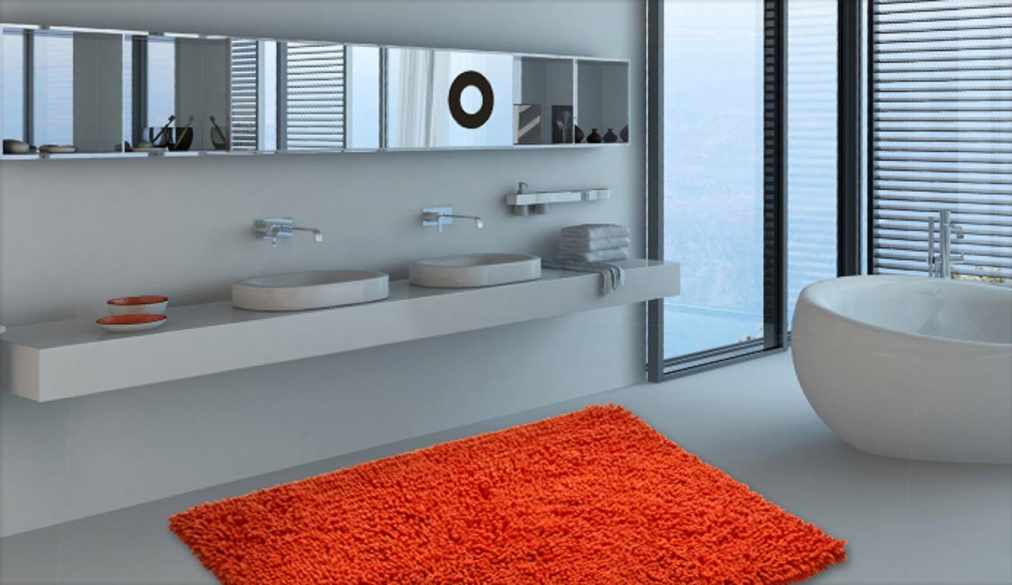 Neo - Kúpeľňová predložka 70x115 cm (pomerančová)