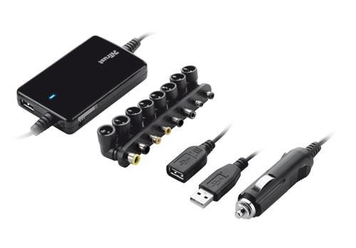 Neoriginálne nabíjačky TRUST Univerzálny napájací adaptér pre notebooky do auta 70W Ultr