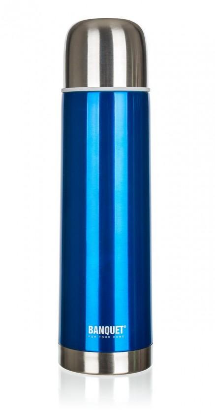 Nerezová termoska 0,75l, modrá