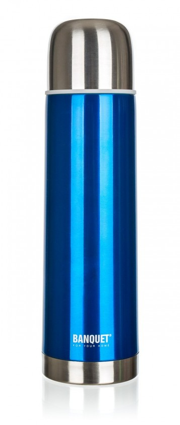 Nerezová termoska 1l, modrá