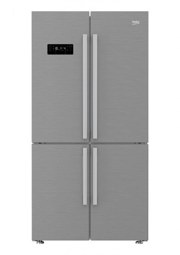 Nerezové americké chladničky Americká chladnička BEKO GN1416231JX