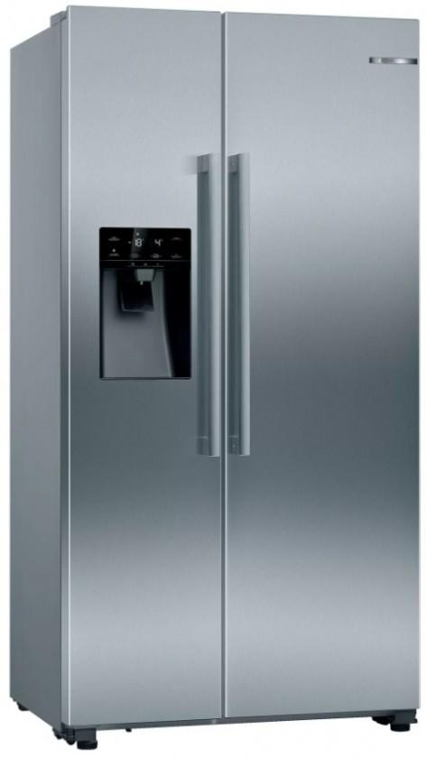 Nerezové americké chladničky Americká chladnička Bosch KAD93AIEP