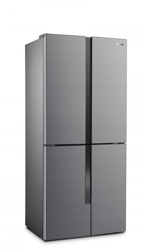 Nerezové americké chladničky Americká chladnička Gorenje NRM8181MX,A+,4xdvere
